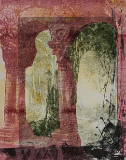Christine Shannon Aaron Work on Paper intaglio, monotype, chine colle