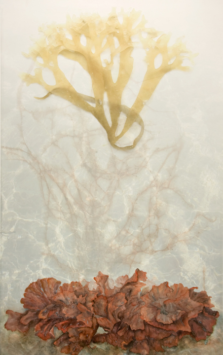 "Mixed Media Paintings 2011-2006 Westerly, 2008, Watercolor & Archival Digital Print on Paper, 43"" x 28.5"""