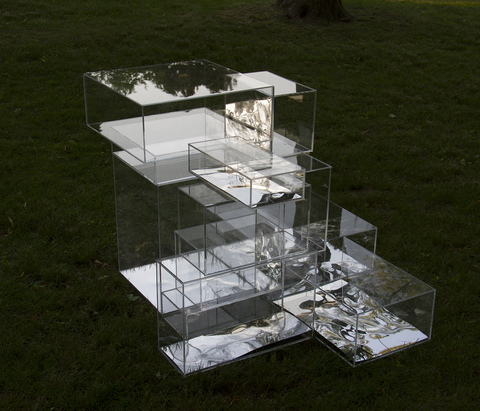 Christina Pumo Sculpture and Installation Installation made of clear and mirrored acrylic