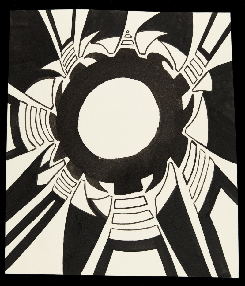 Christopher Schade Suns Ink on paper