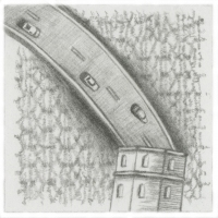 Christopher Croft Doorwedge Chronicles Graphite Drawing on Transparent Sheet