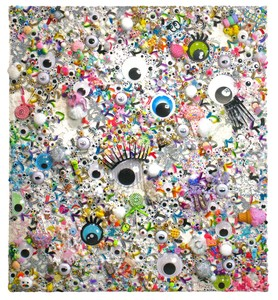 christybomb googly-eyed in wonderland Mixed media