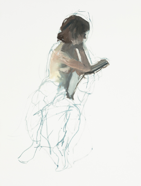 Chris Wright figure sketches Oil on Paper