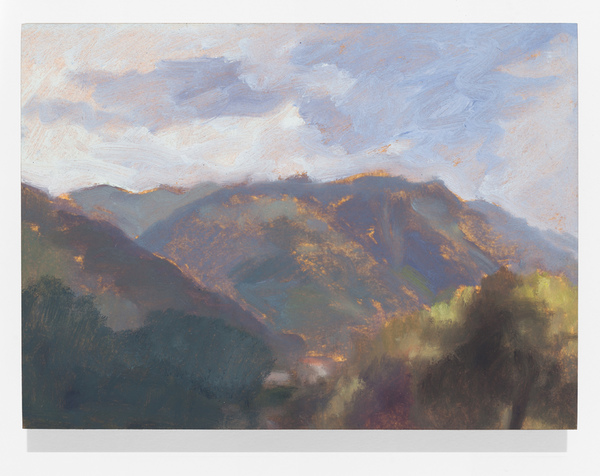 Chris Wright dolomiti Oil on Paper mounted on Panel