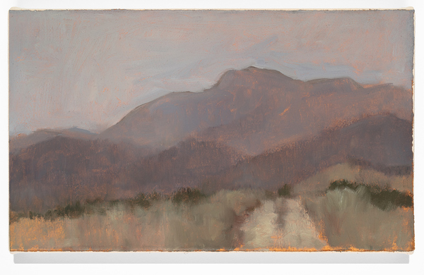 Chris Wright sierras Oil on Paper mounted to Canvas