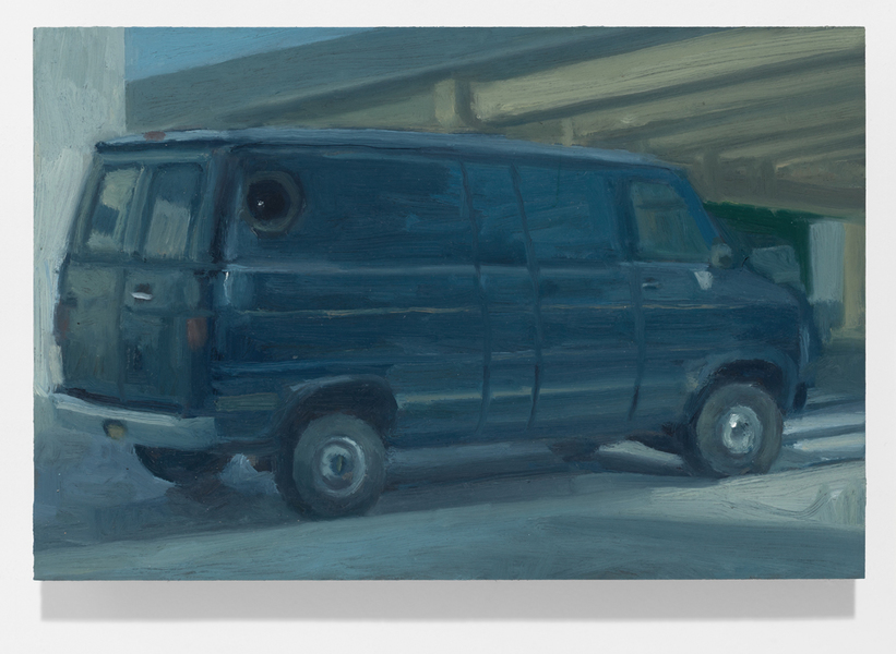 vehicles Blue Van