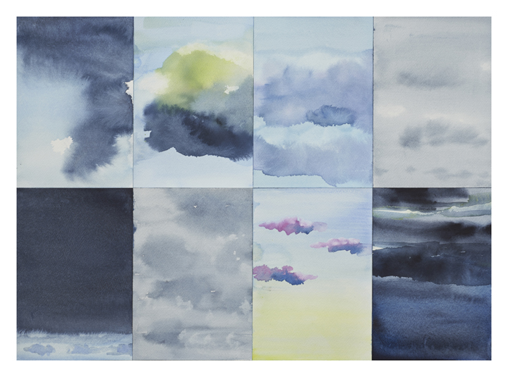 Cicely Cottingham Everything is Sky Drawings Watercolor on paper