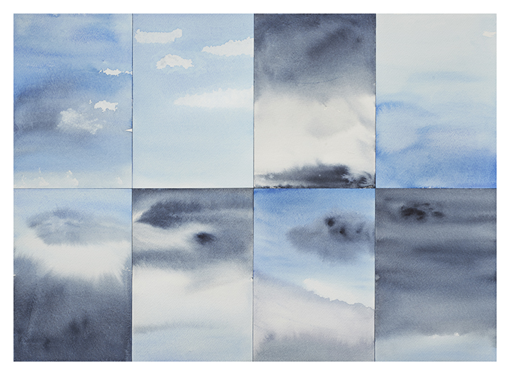 Cicely Cottingham Everything is Sky Drawings Watercolor on Sennelier paper