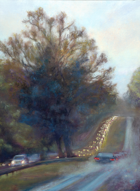 Cynthia K Mullins Prints of the Merritt Parkway Paintings archival print on canvas/ original is oil