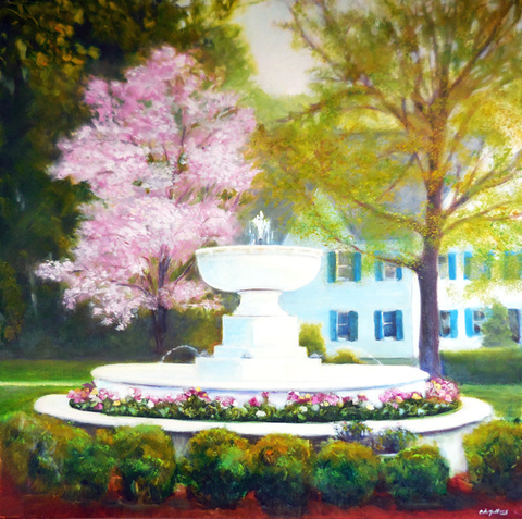 Cynthia K Mullins Inspired by Ridgefield oil on linen