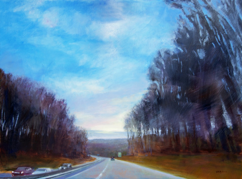 Cynthia K Mullins Prints of the Merritt Parkway Paintings archival print on paper/original is oil on board