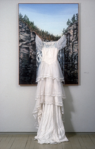 Cindy Tower Landscapes/National Parks oil on canvas with wedding dress