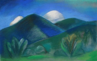 Claire Rosenfeld Landscapes pastel on paper