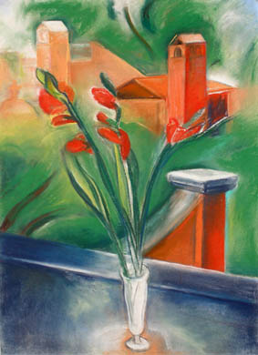 Claire Rosenfeld Still Lifes pastel on paper