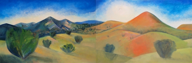 Claire Rosenfeld Landscapes Oil on canvas