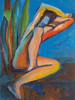Claire Rosenfeld Figures Oil on board