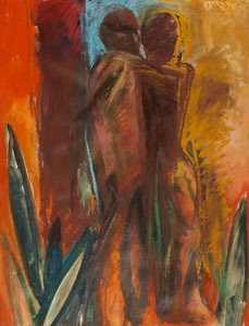 Claire Rosenfeld Figures Oil on paper
