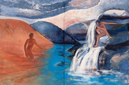 Claire Rosenfeld Figures oil on canvas