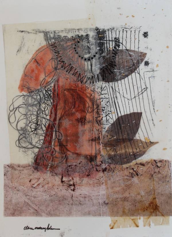 Clare Murray Adams Encaustic on Paper encaustic and collage on paper