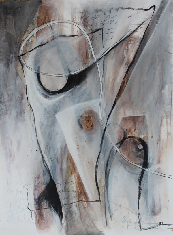 Clare Murray Adams Black and White Paintings mixed media on paper