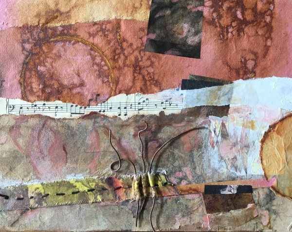 Clare Murray Adams Mixed Media Collage mixed media collage on board