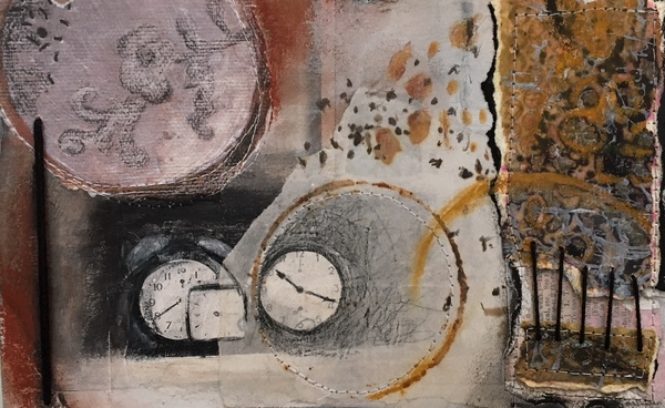 Clare Murray Adams Small Paper Collages mixed media collage on paper