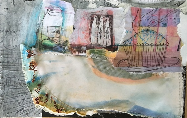 Clare Murray Adams Small Paper Collages mixed media collage