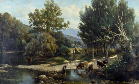 19th Century A Summer Stream