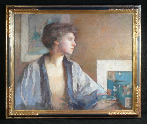 Impressionism  The Blue Kimono (A Portrait of the Artist, Patrice Borgeson)