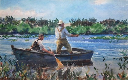 Impressionism  Fishing in the Saltpond