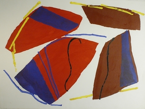 Abstract Acrylic on Heavy Paper