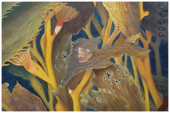 Cleo Vilett Marine Life Oils Oil on Cnavas