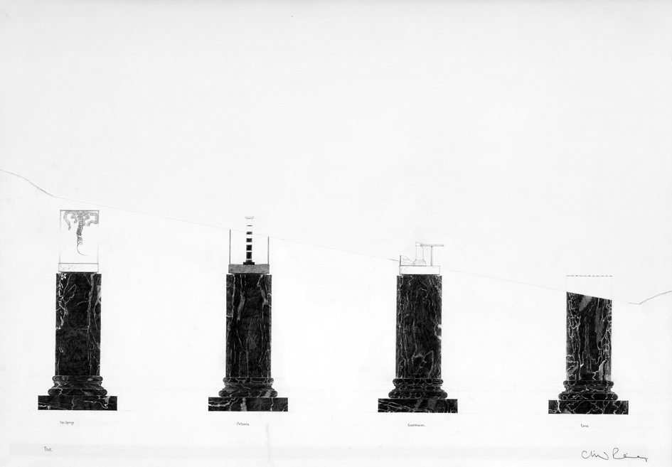 Preparatory Drawings Erechtheion, four columns.