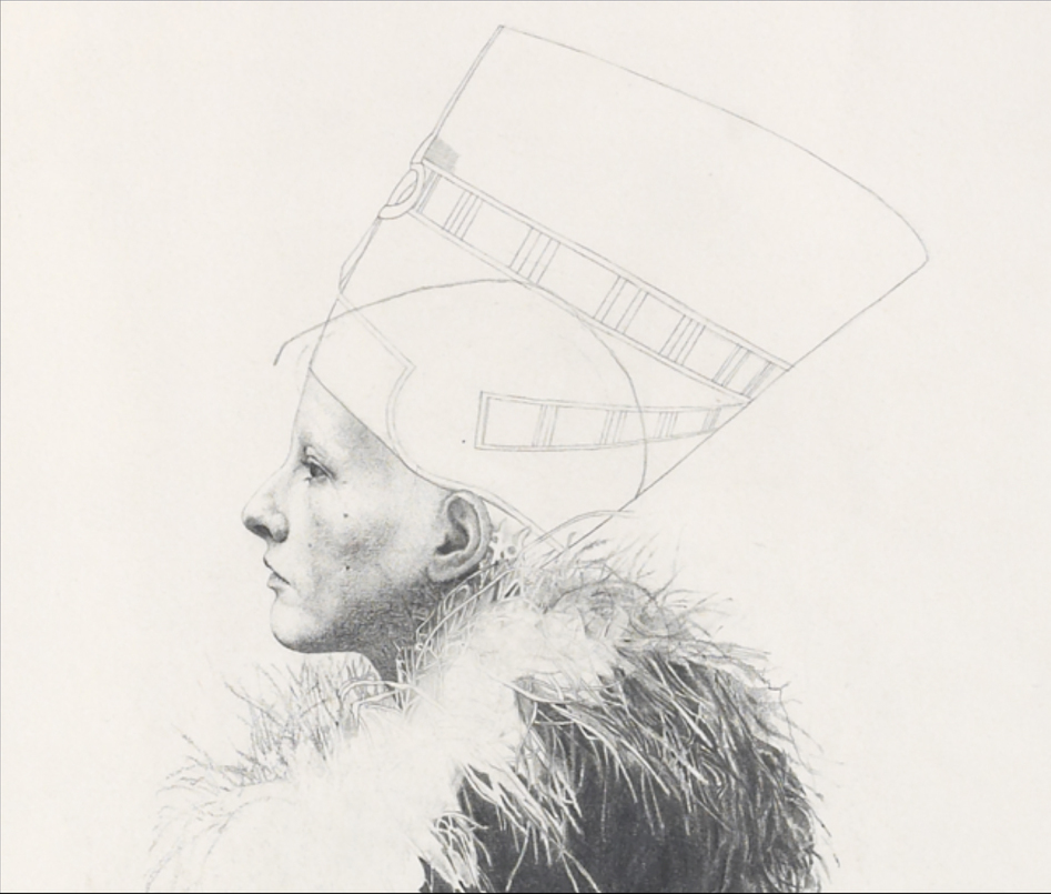 Portrait Drawings Joan Chatterley detail