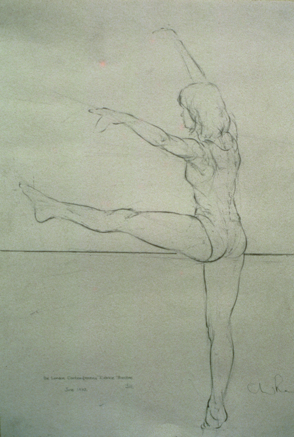 Preparatory Drawings Jill.  Study, London Contemporary Dance Theatre
