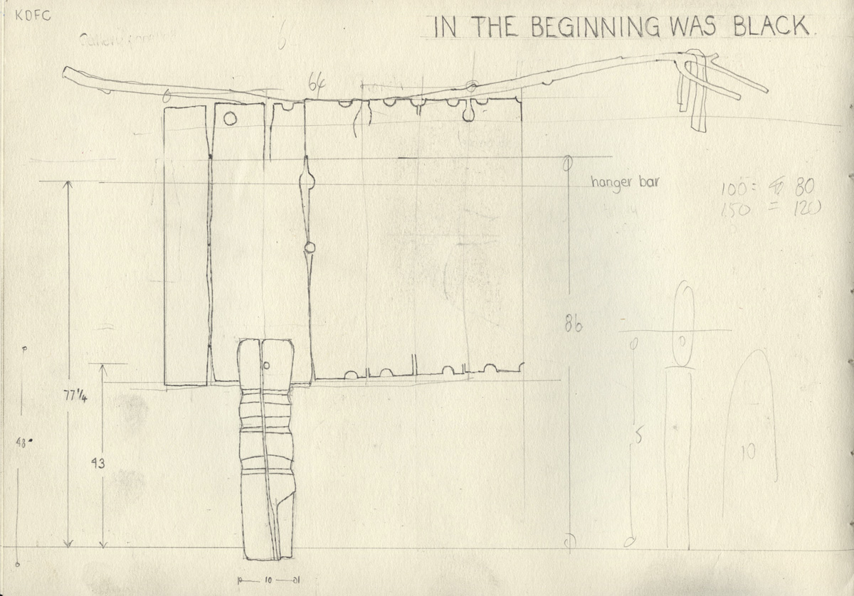 In The Beginning Was Black Sketchbook