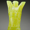 Despairing Adolescent 3D printed, cast yellow uranium glass