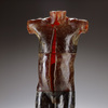 Boyhood Series Glass, oxides, Lava/Pumice Rock, pins, maple plinth