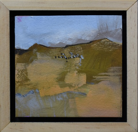 Cliff Tresner Paintings/Drawings oil on paper, handmade frame