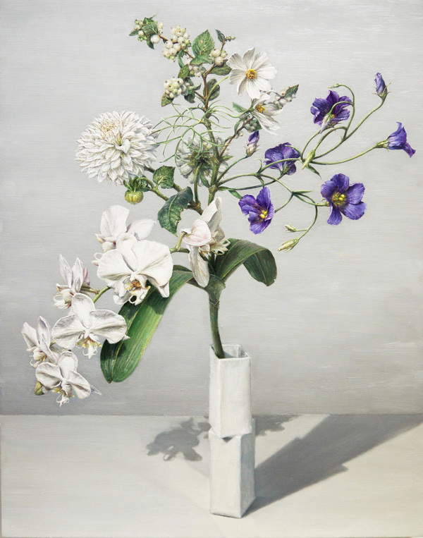 "CLIVE SMITH STUDIO Transgenic Bouquets oil on wood panel, 28 x 22"", 2018"