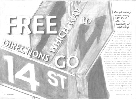 Clover Archer  Ordinary: Special Issue FREEdom on 14th Street graphite on paper