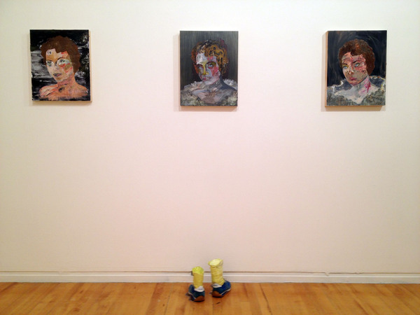 """Portrait Of My Mom"" #1, #2, #3 installed with ""I'm Not Going Back"""