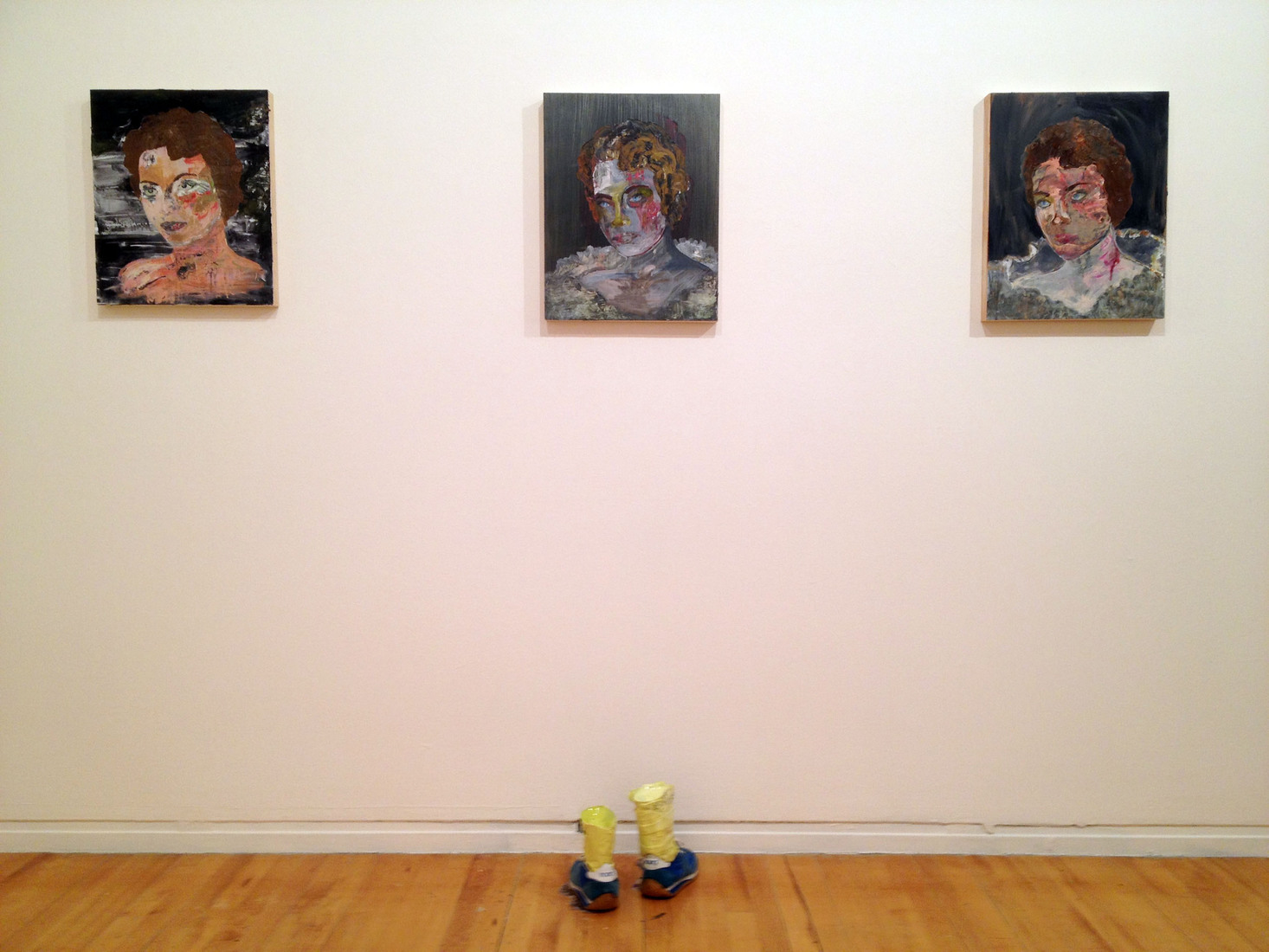 "Get In The Pit ""Portrait Of My Mom"" #1, #2, #3 installed with ""I'm Not Going Back"""