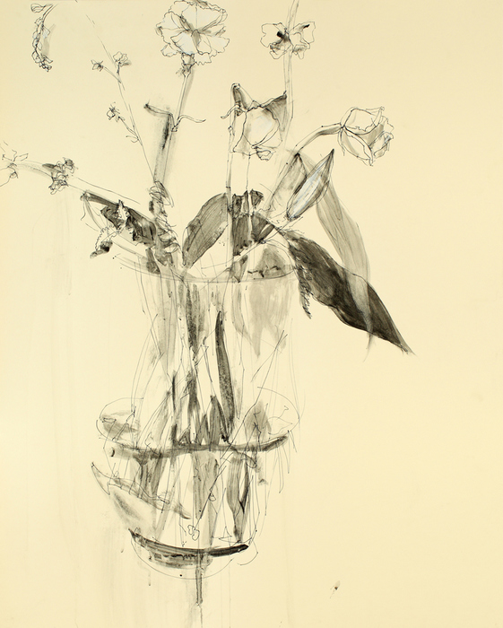 COLLEEN KIELY Ten Thousand Flowers Archival marker, graphite & gesso on museum board