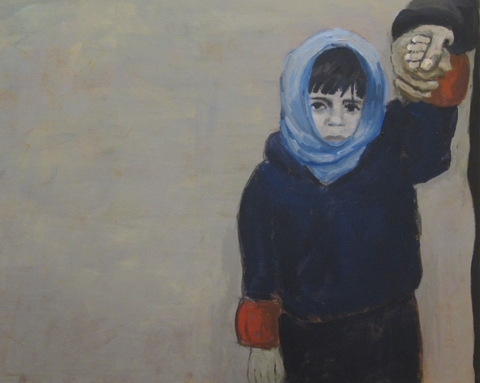 Refugees & other Innocents acylic & oil on canvas