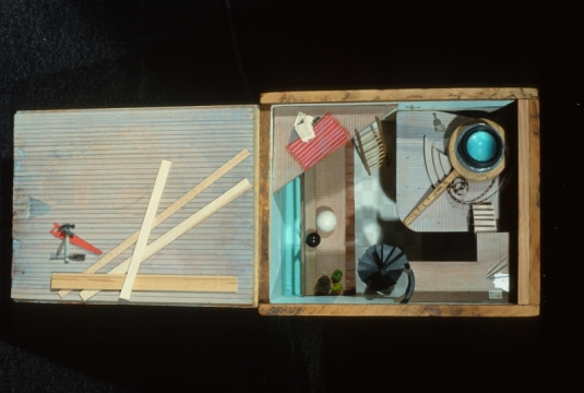 Constance Kiermaier Boxes mixed media