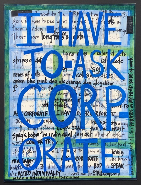 constance old phrases in my head mixed media on claybord
