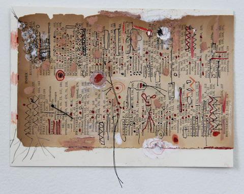 Marcia Cooper THREADS Mixed media with thread