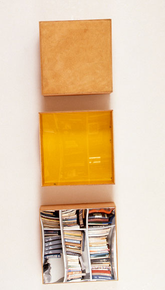 Marcia Cooper The BOX SERIES Plexiglass, wood, suede