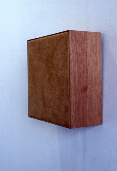 Marcia Cooper The BOX SERIES Suede & Wood